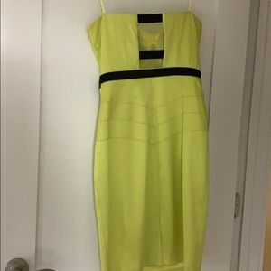 Beautiful sexy lime dress with slit in back.
